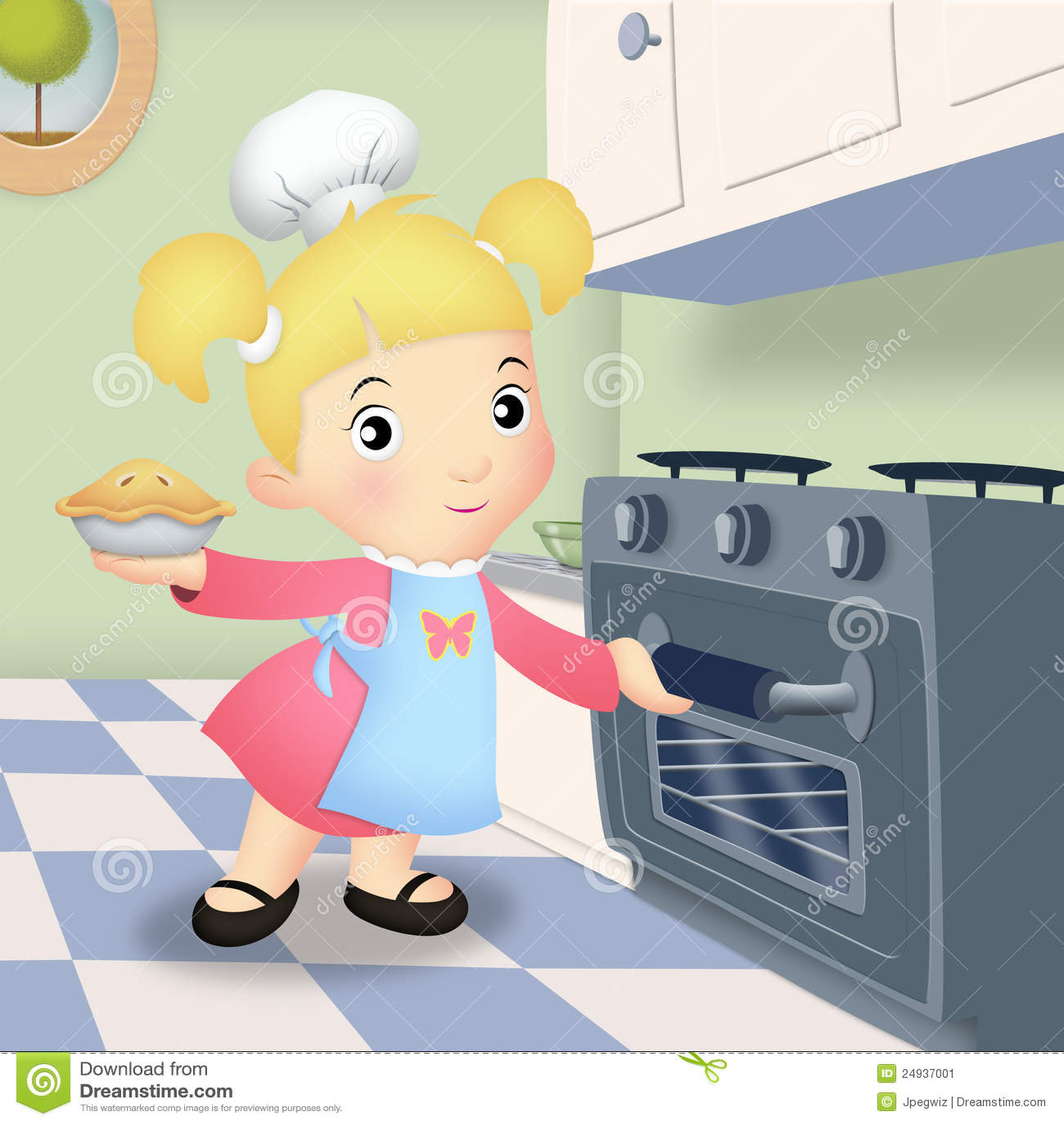 Girl Baking Stock Image - Image: 24937001