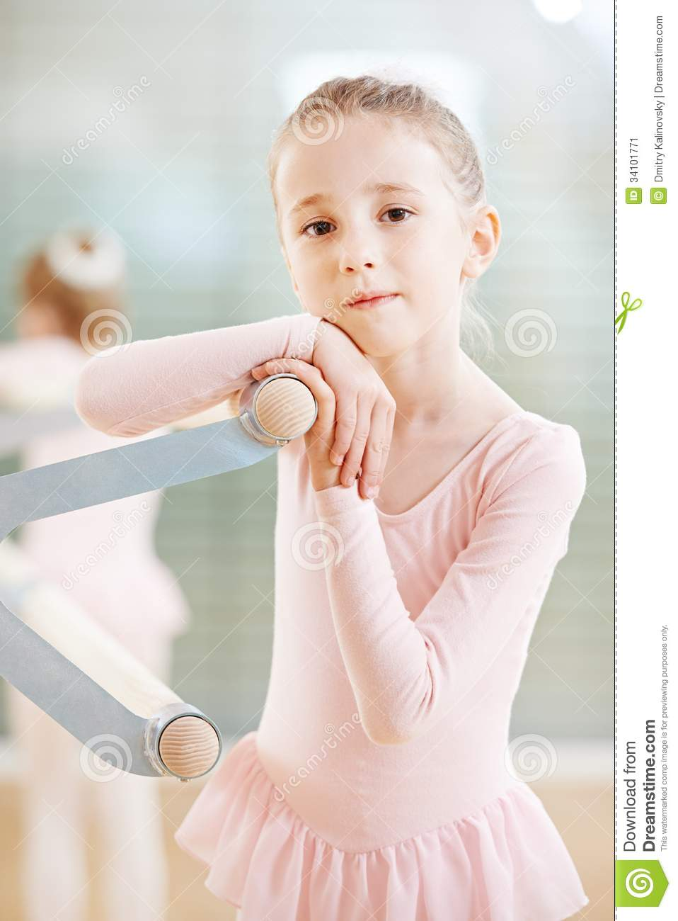 94198c21a181 Girl at ballet training stock image. Image of dance
