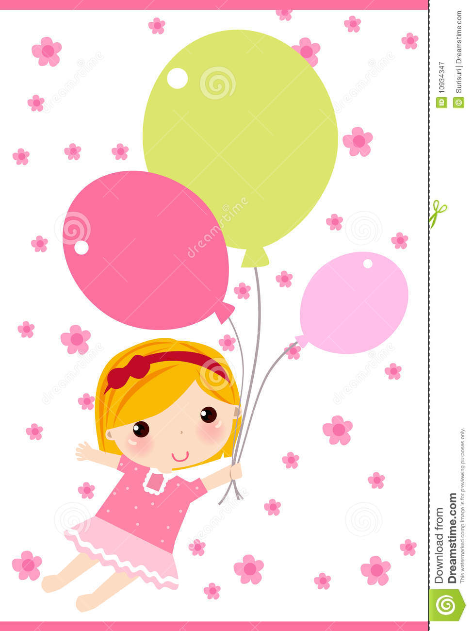 girl with balloon royalty free stock photography   image