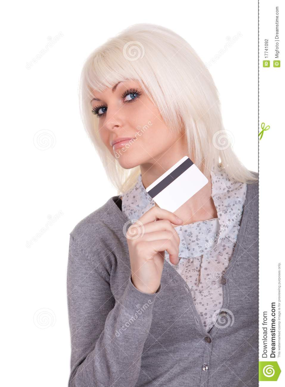 The girl with a bank card