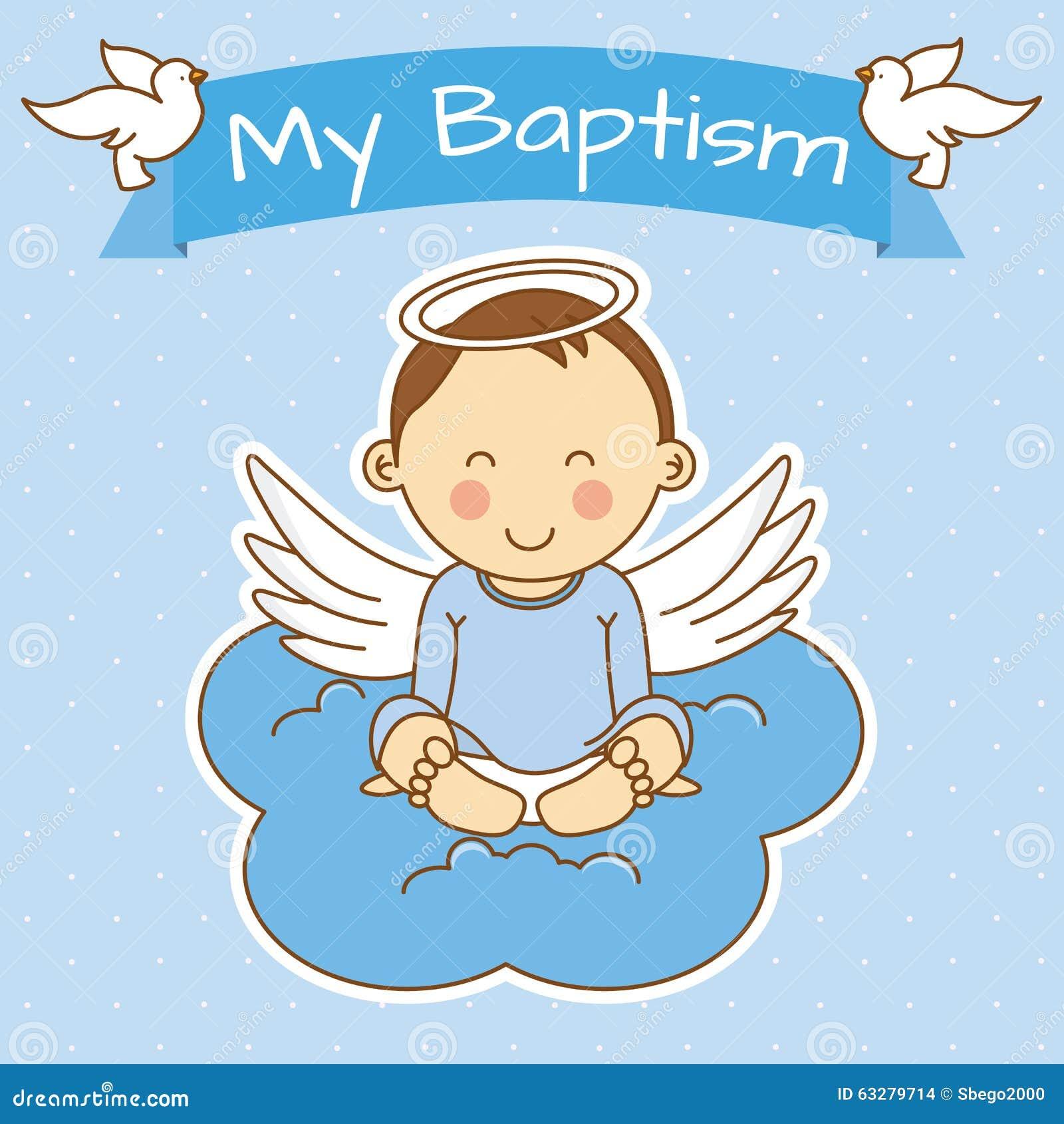 Girl Baptism Stock Vector - Image: 63279714