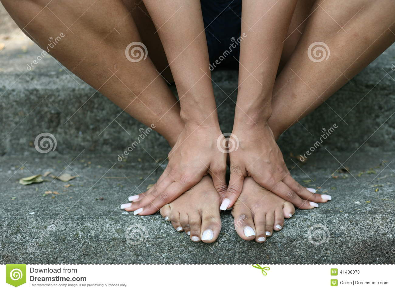 girl bare feet stock photo. image of care, flat, health - 41408078