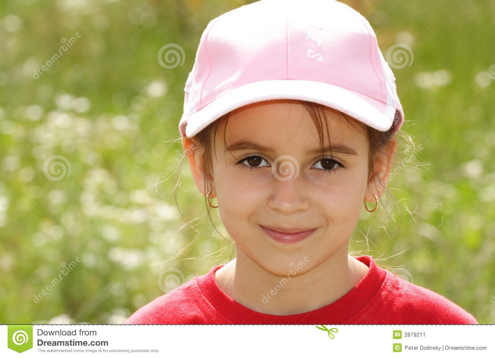 Girl in a Baseball Cap stock image. Image of children - 2879211 c7693bce612