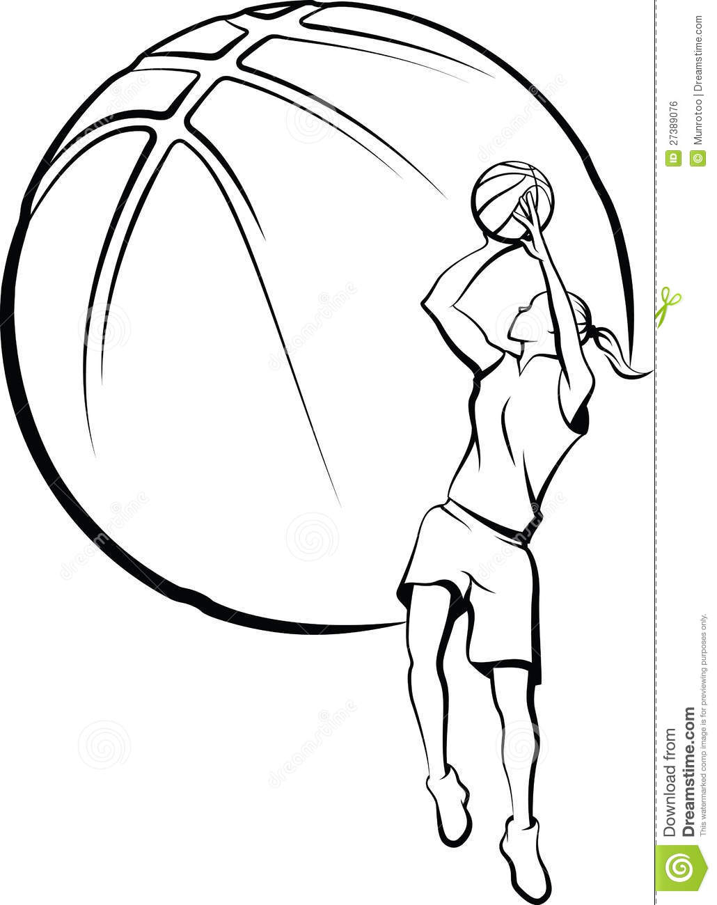how to draw a girl basketball player