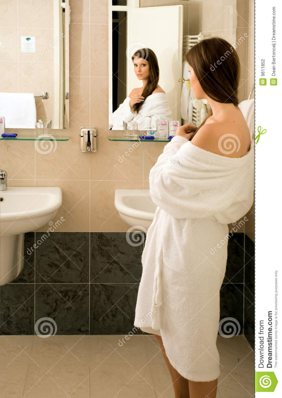 Girl in the bathroom stock photo image of girl hygiene for Bathroom photos of ladies