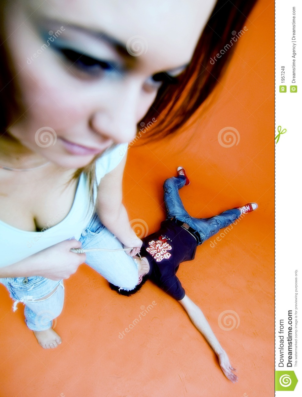 Girl Beating Guy