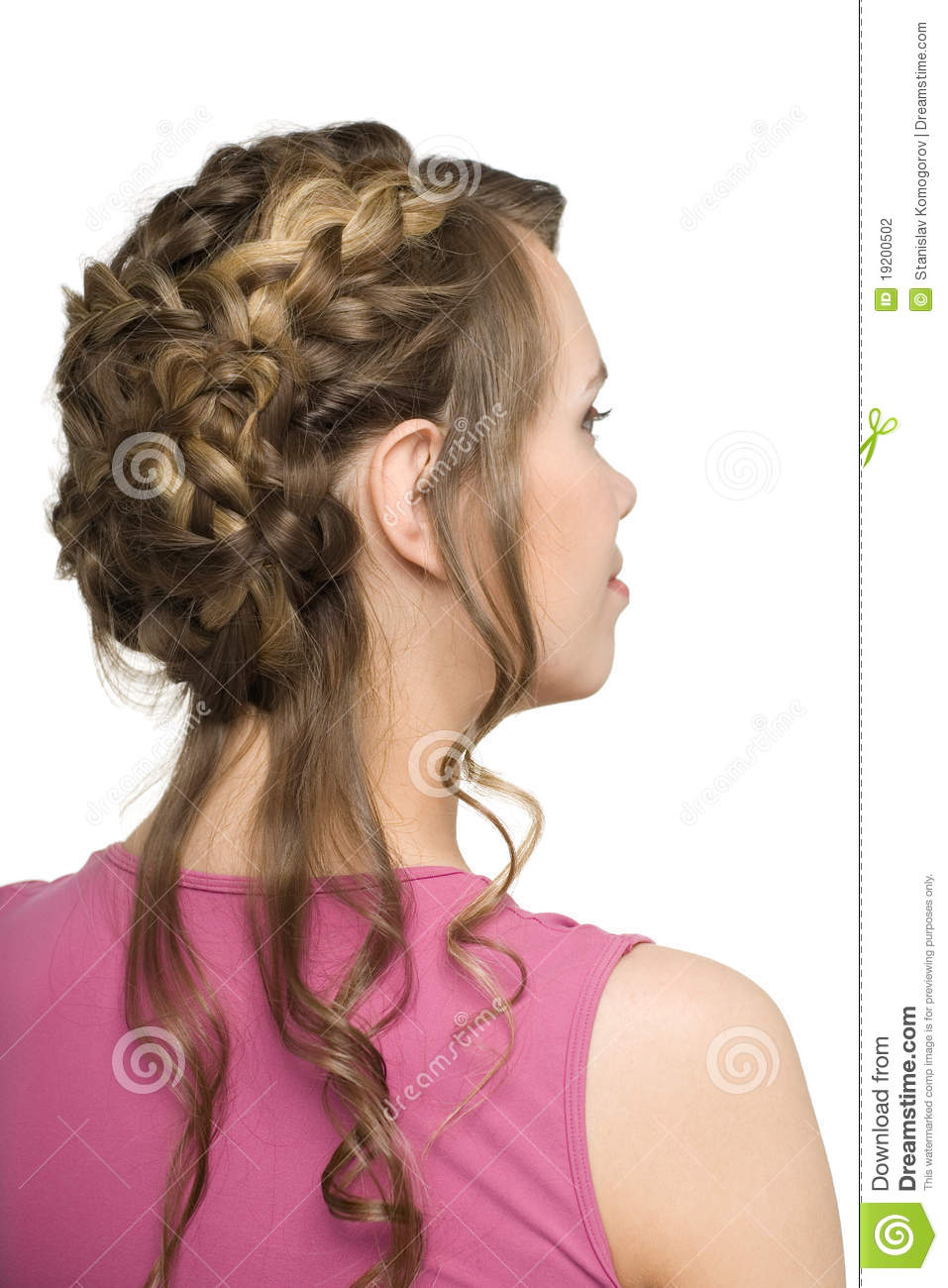 Beautiful Hair Cutting Style : Girl With Beautiful Hair Styling Stock Photography - Image: 19200502