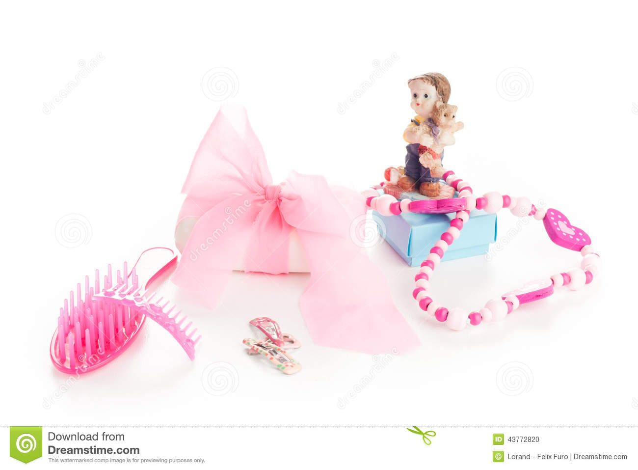 Girl Beauty Accessories Stock Photo Image Of Pink Coam 43772820