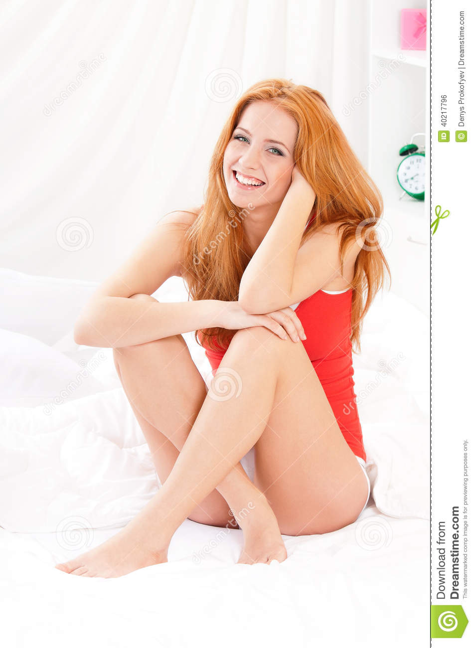 smile naked young lady photo