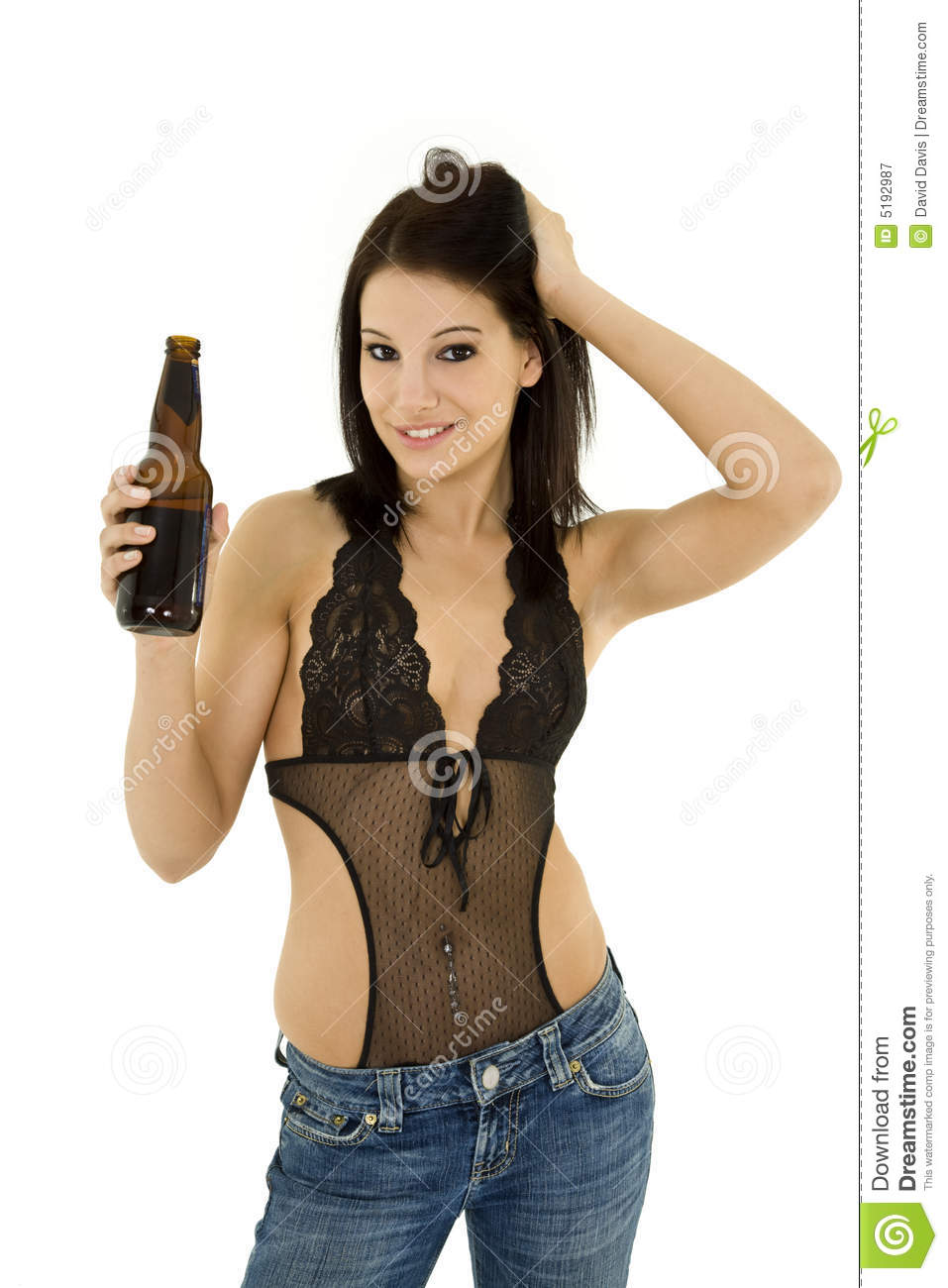 sexy naked holding a beer