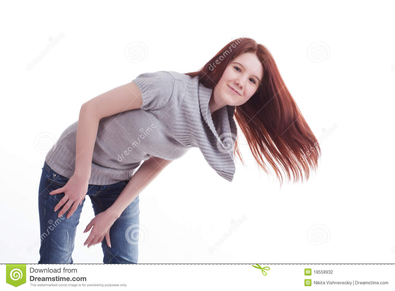 Girl bent over stock photography image 18558932