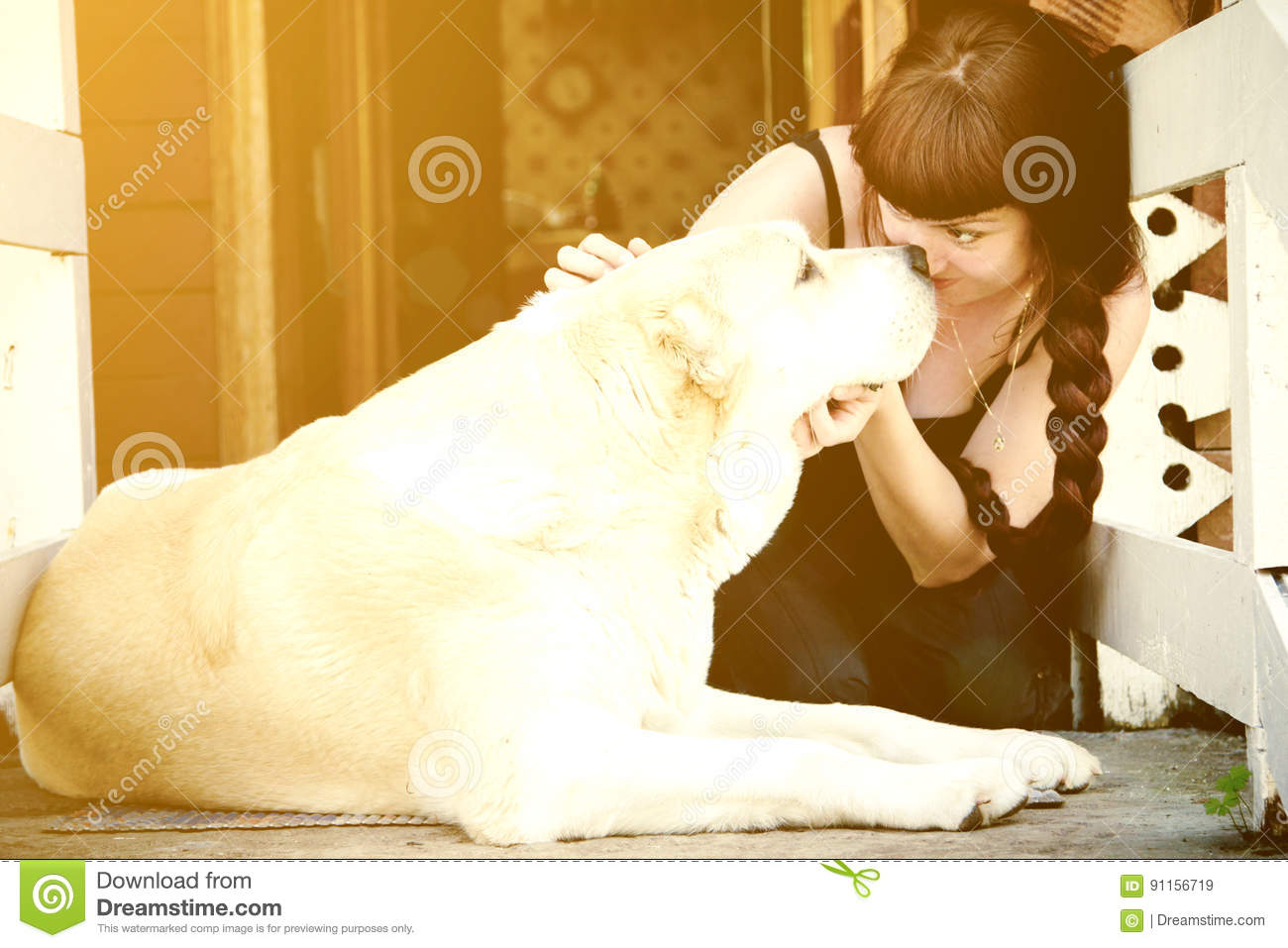 dog breeds with human girl