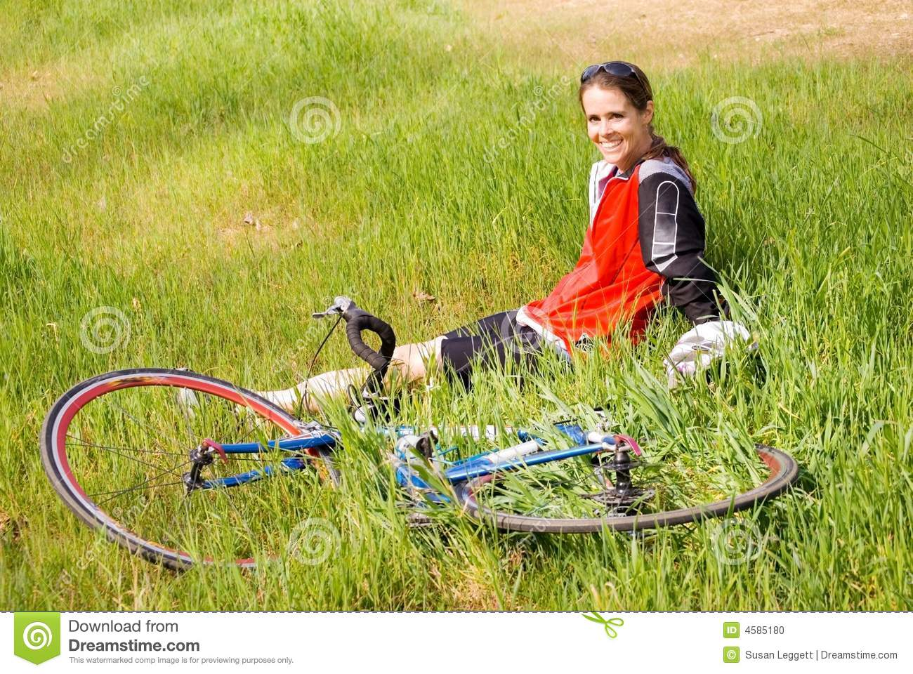 Girl after a bike ride