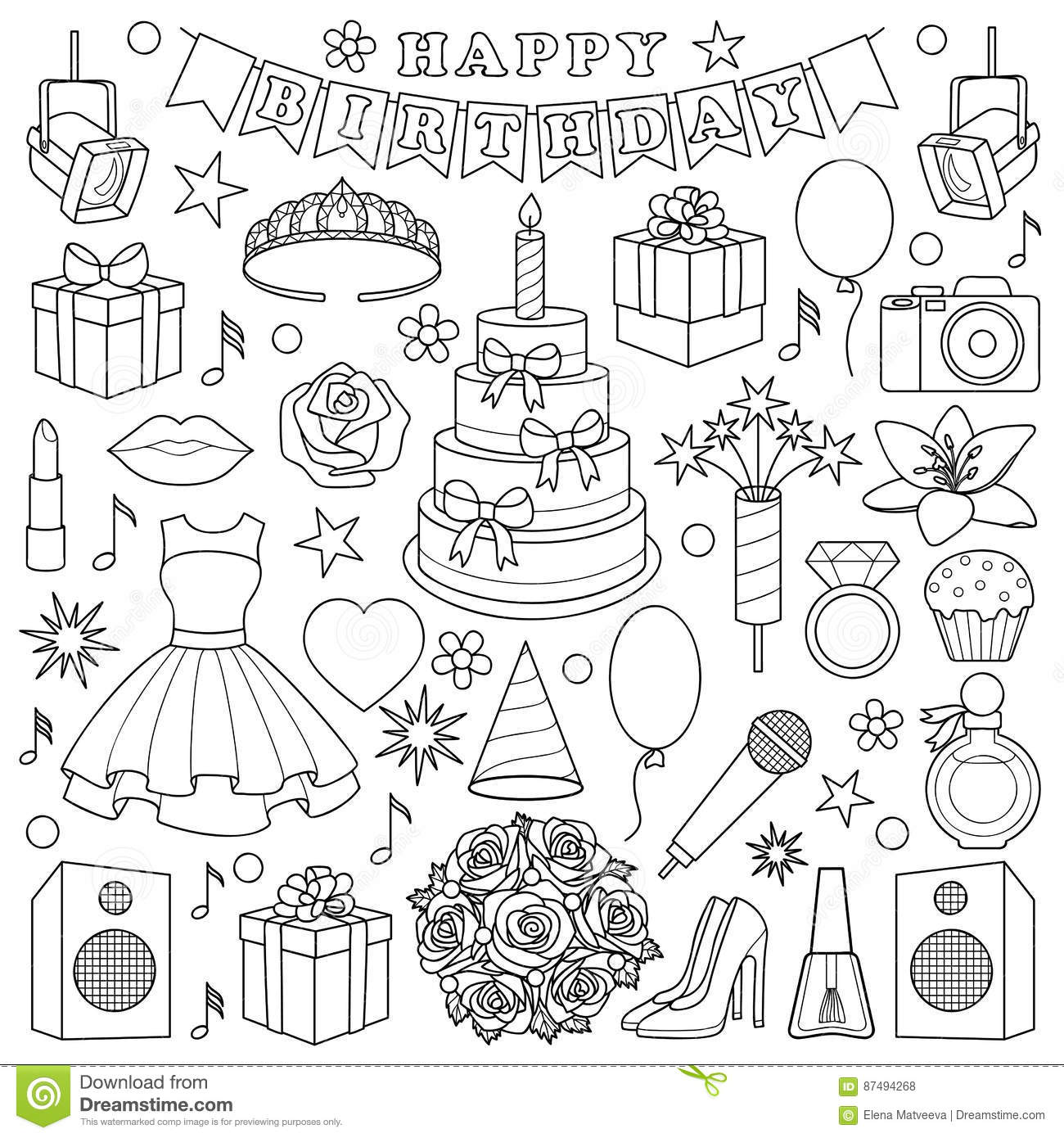 sweet 16 birthday coloring pages - photo#26
