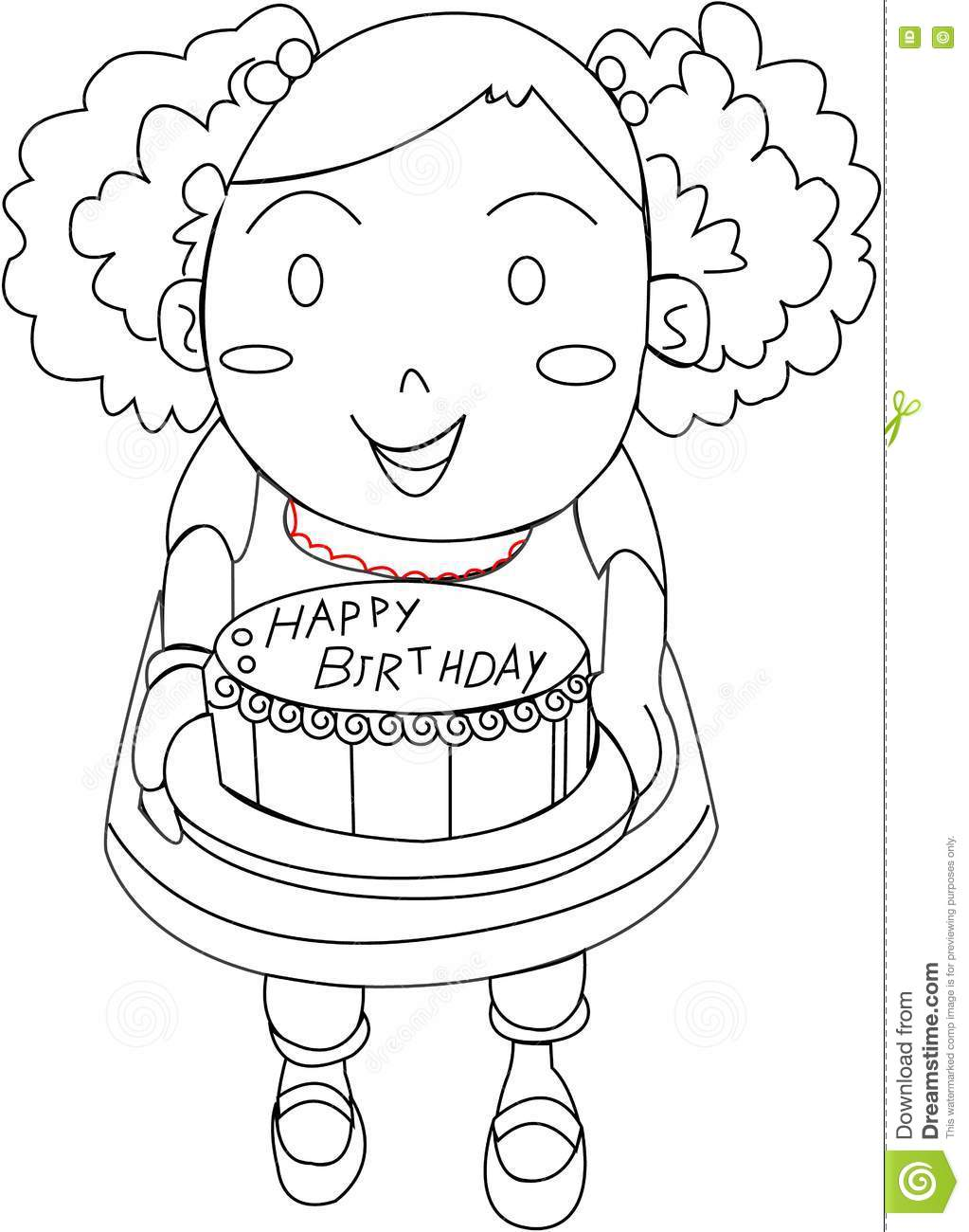Galerry fruit cake coloring pages