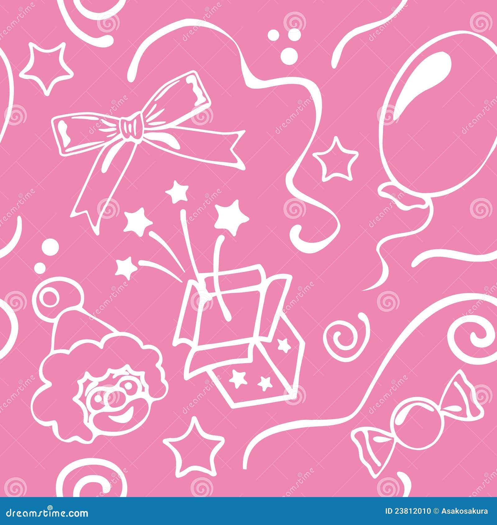 Girl Birthdays Seamless Background