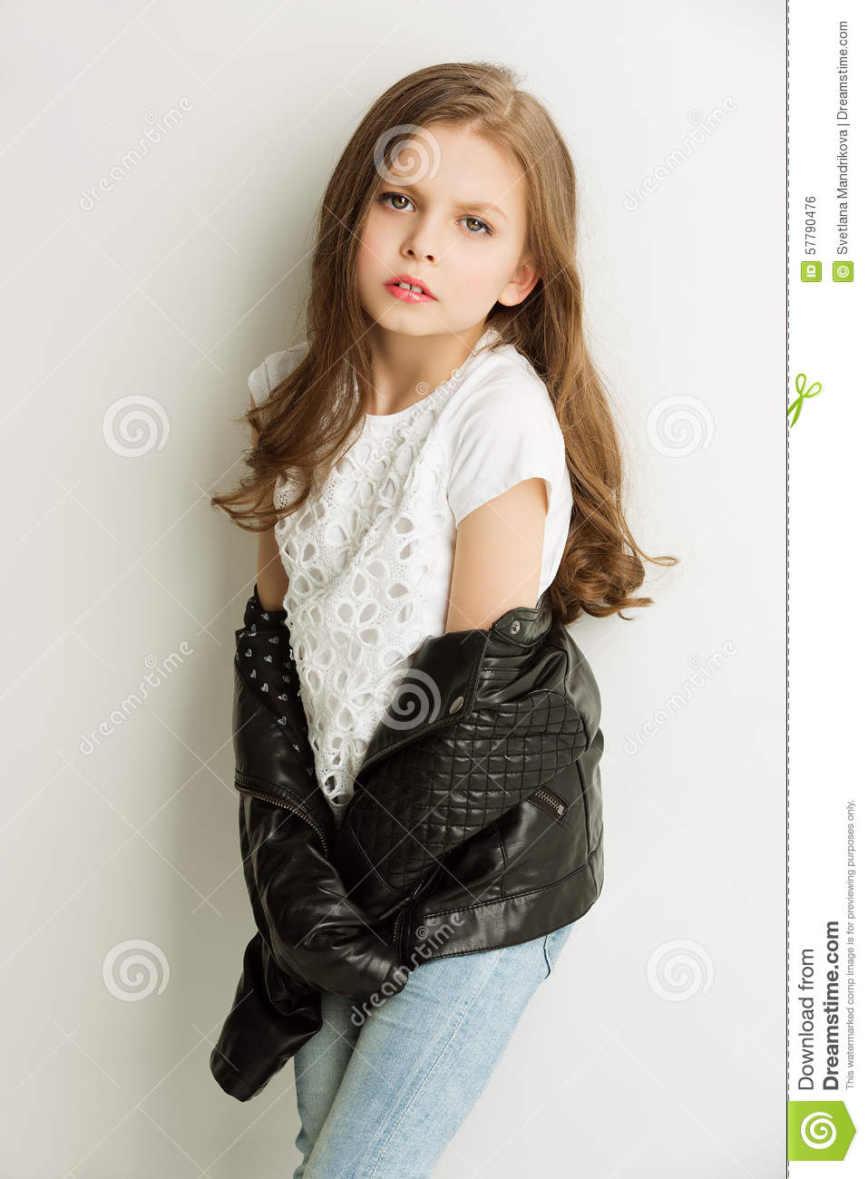 Little Girls Black Coat