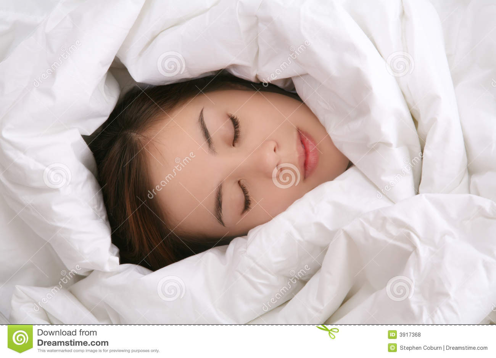 Girl In Blanket Sleeping Royalty Free Stock Photos - Image: 3917368