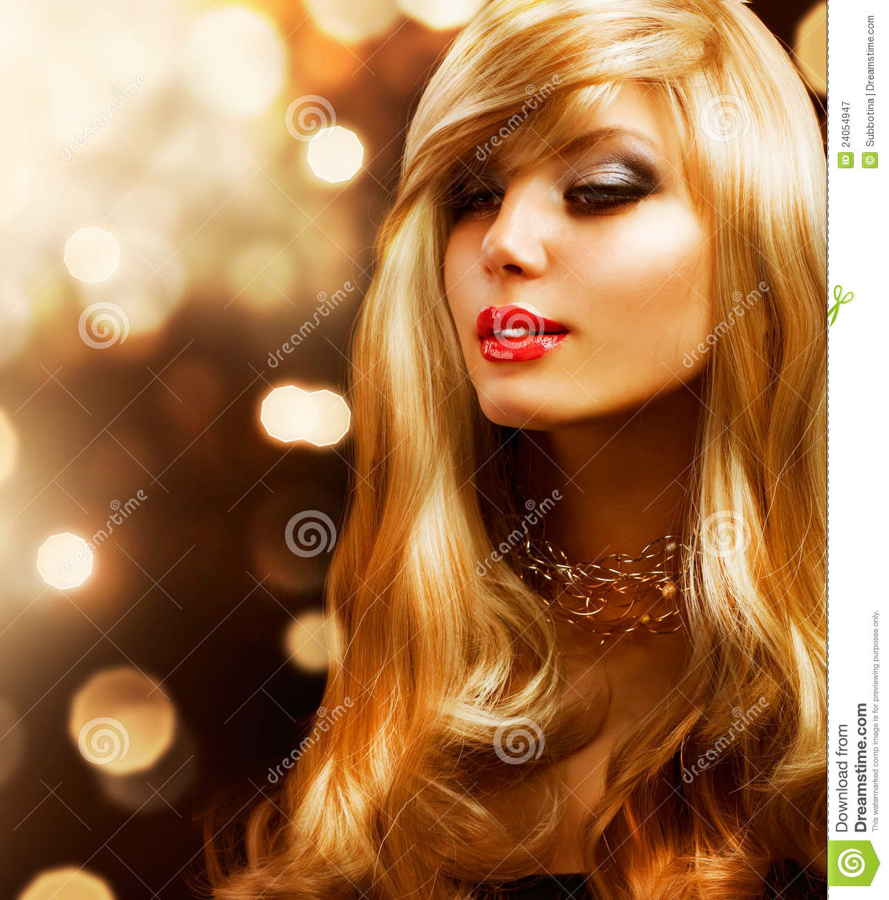 Woman With Long Blonde Hair Stock Photos - Image: 2807073