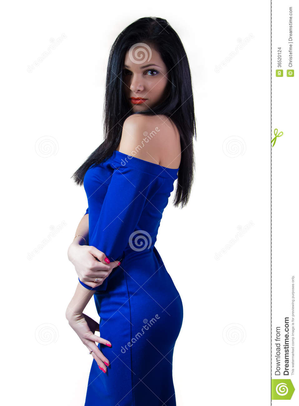 Girl In Blue Dress Stock Images - Image: 36520124
