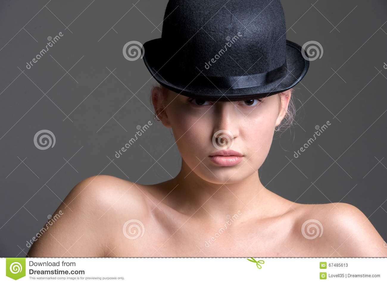 Girl Bowler Hat Stock Images - Download 1 37f4dee13419