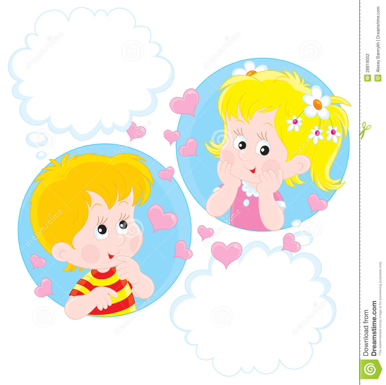 Girl And Boy Dreaming Stock Photography - Image: 28819002