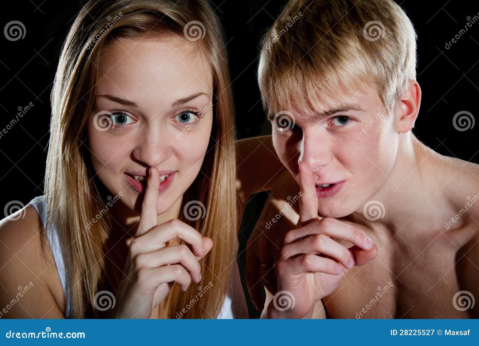 Girl fingering boy