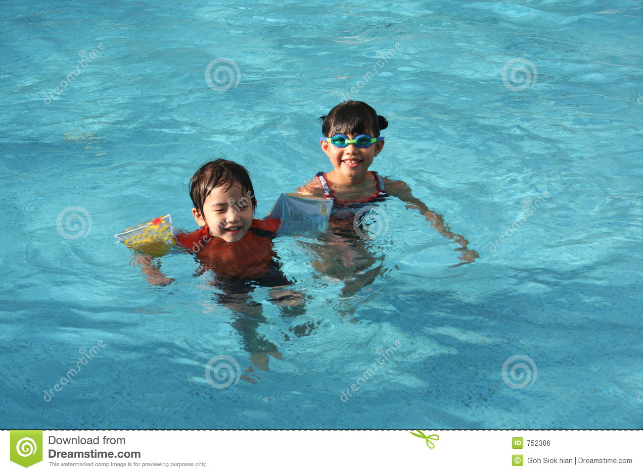 Girl Boy In The Pool Royalty Free Stock Image Image 752386
