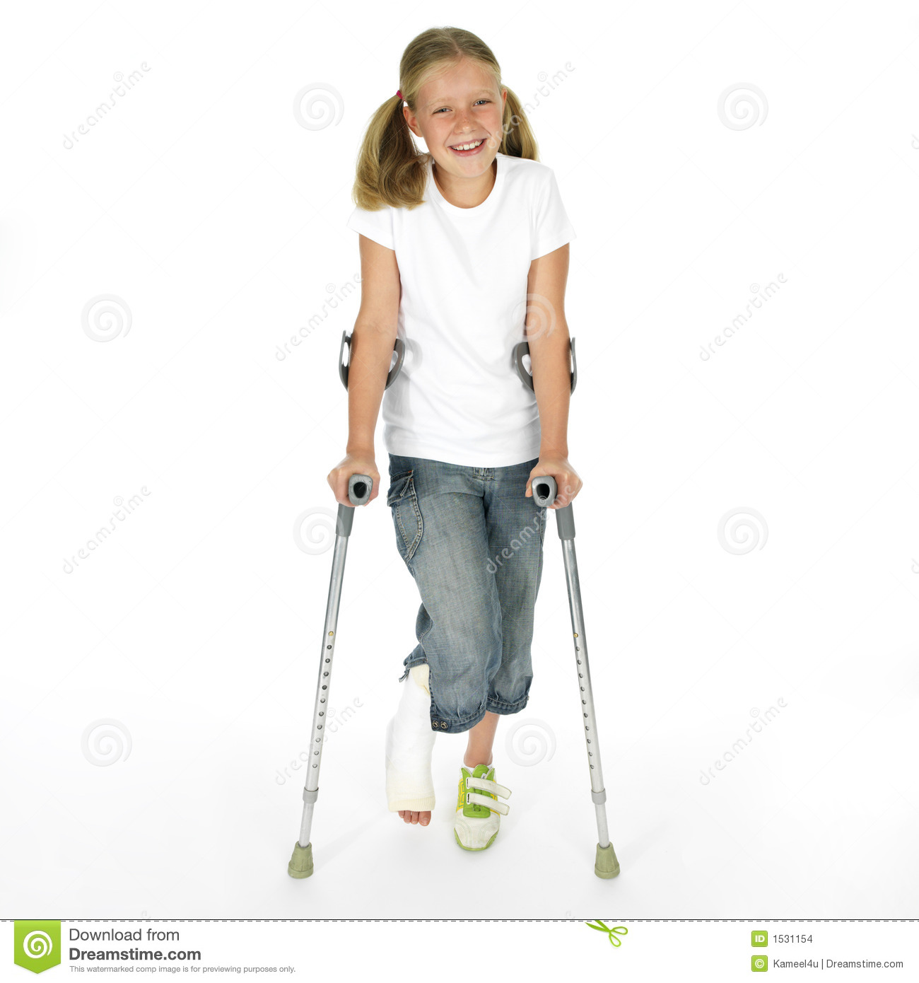 More similar stock images of ` Girl with a broken leg walking on ...