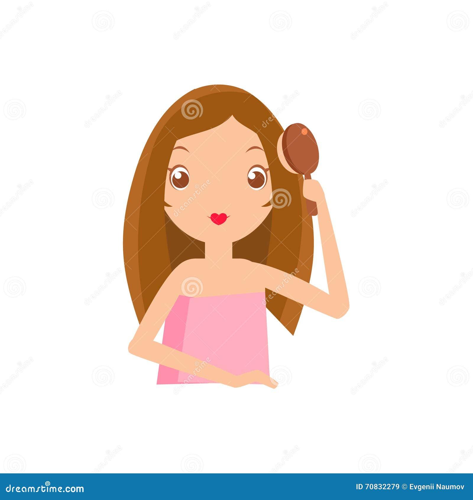 hair brushing clipart wwwpixsharkcom images