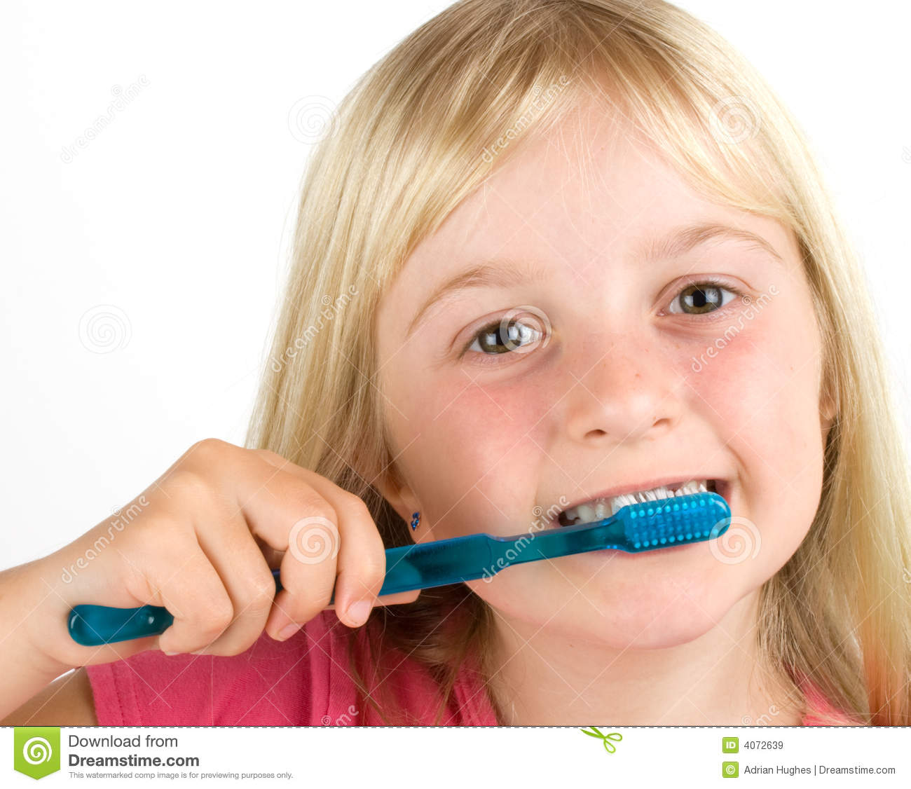 Girl Brushing Her Teeth Royalty Free Stock Images - Image ...