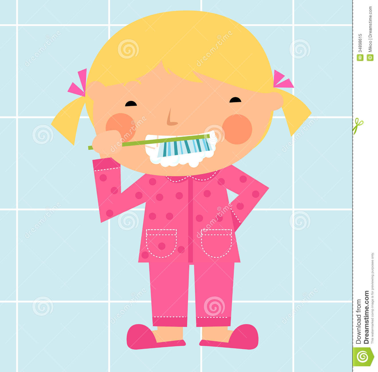 Girl Brushing Her Tooth Royalty Free Stock Photo - Image: 34898615