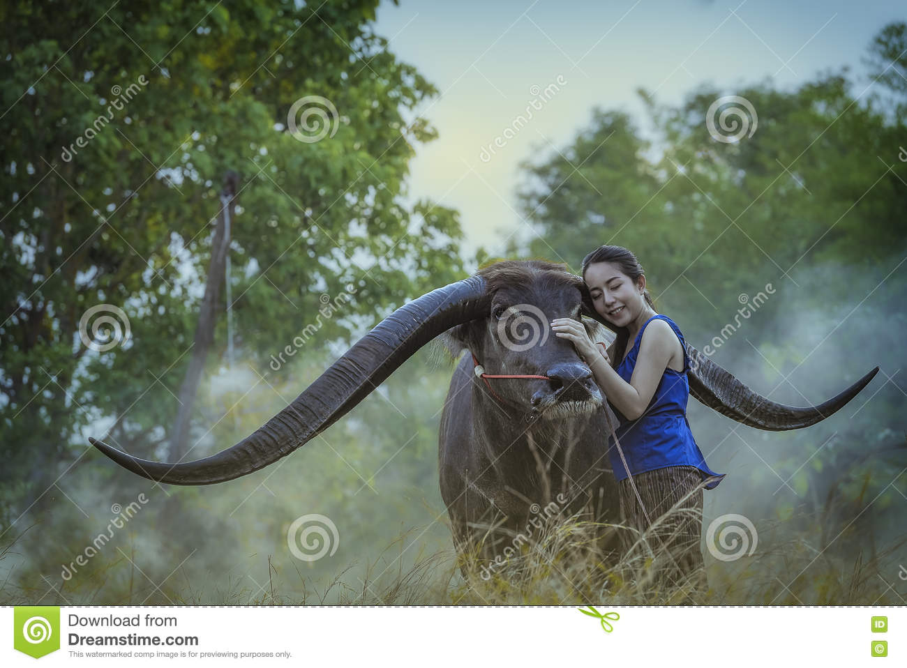 The girl with Buffalo