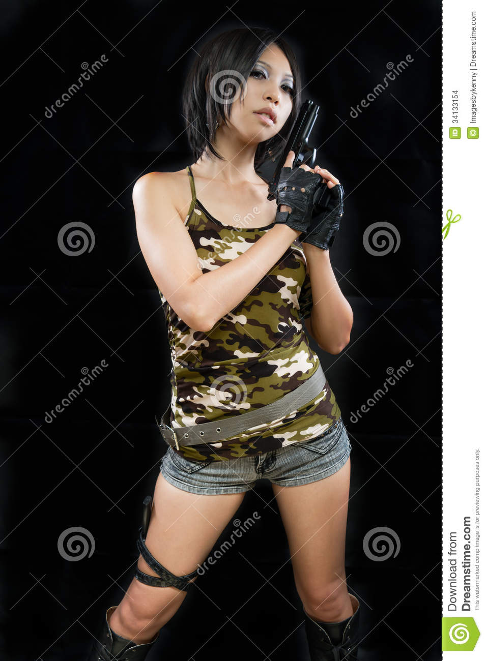 Opinion military naked army girl holding a gun