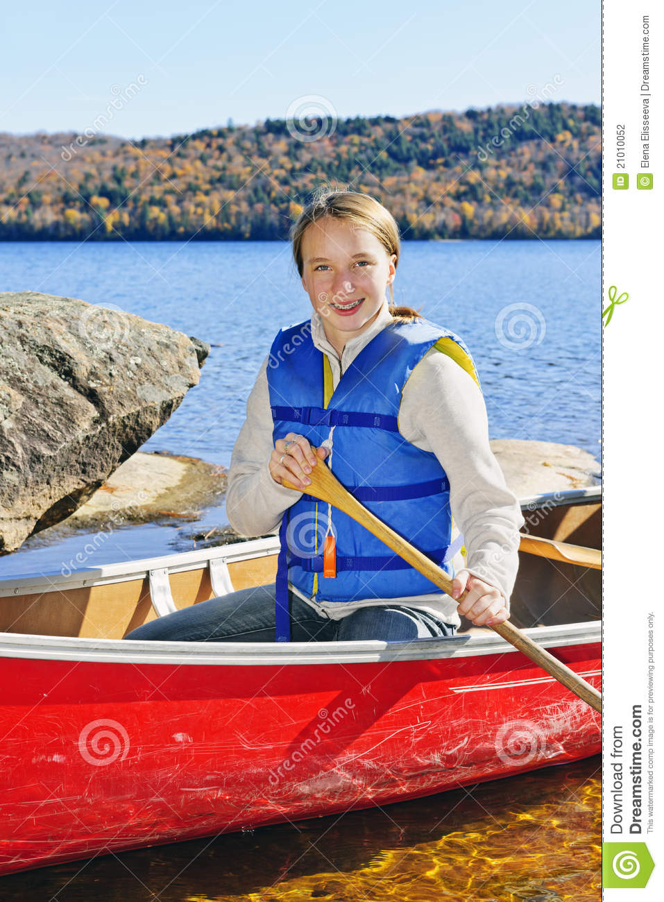 Girl In Canoe Stock Photography Image 21010052