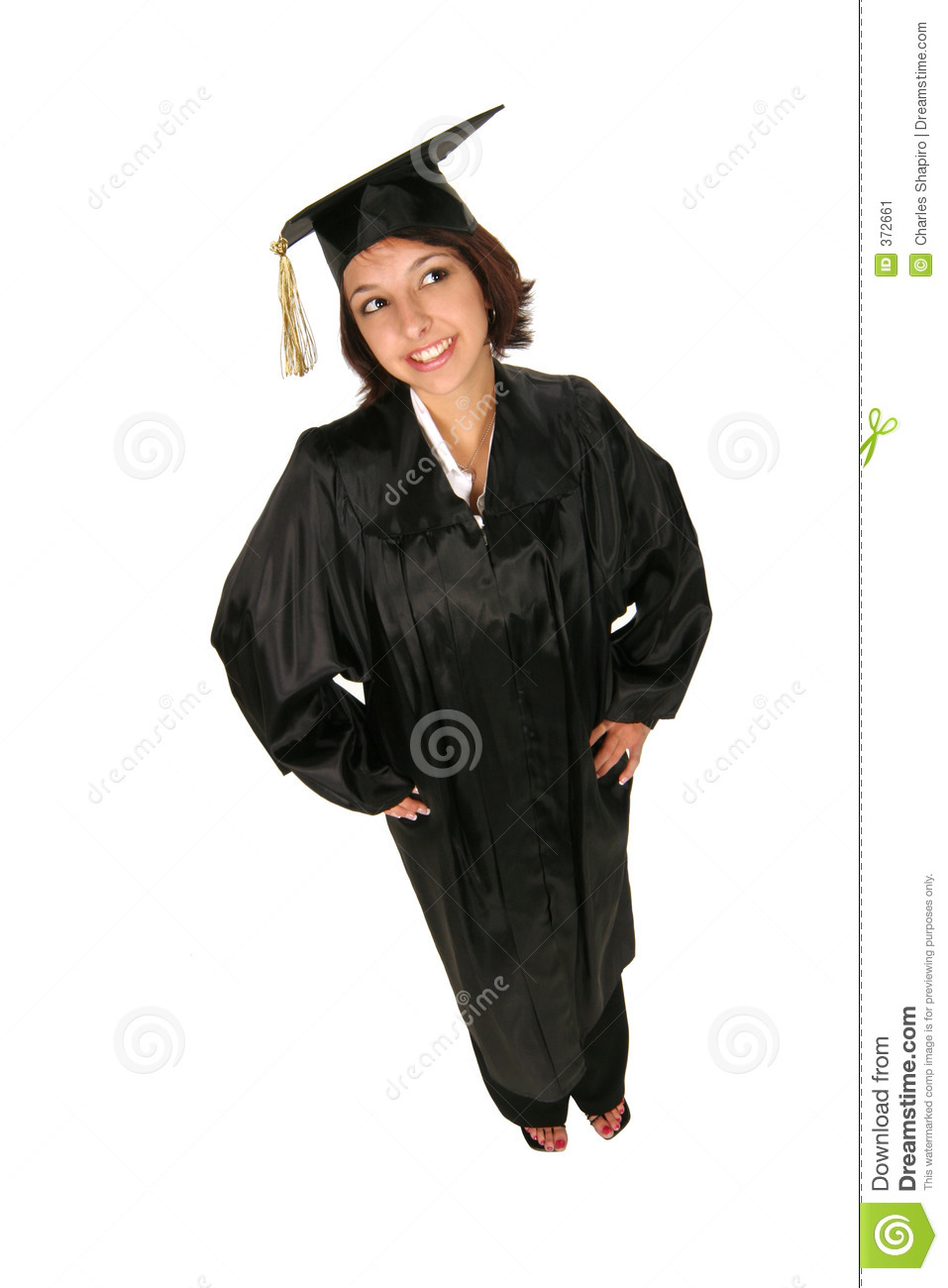 Girl in cap and gown stock image. Image of background, attire - 372661