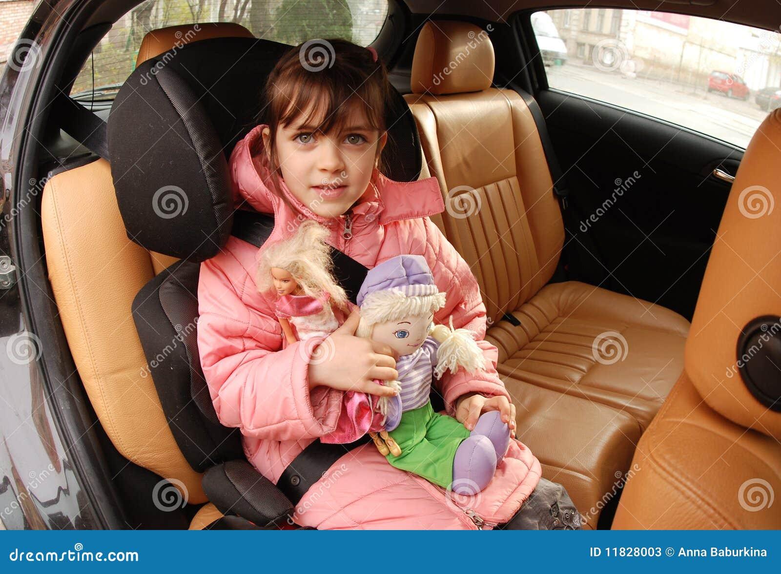 Girl In Car Seat Stock Photos Image 11828003