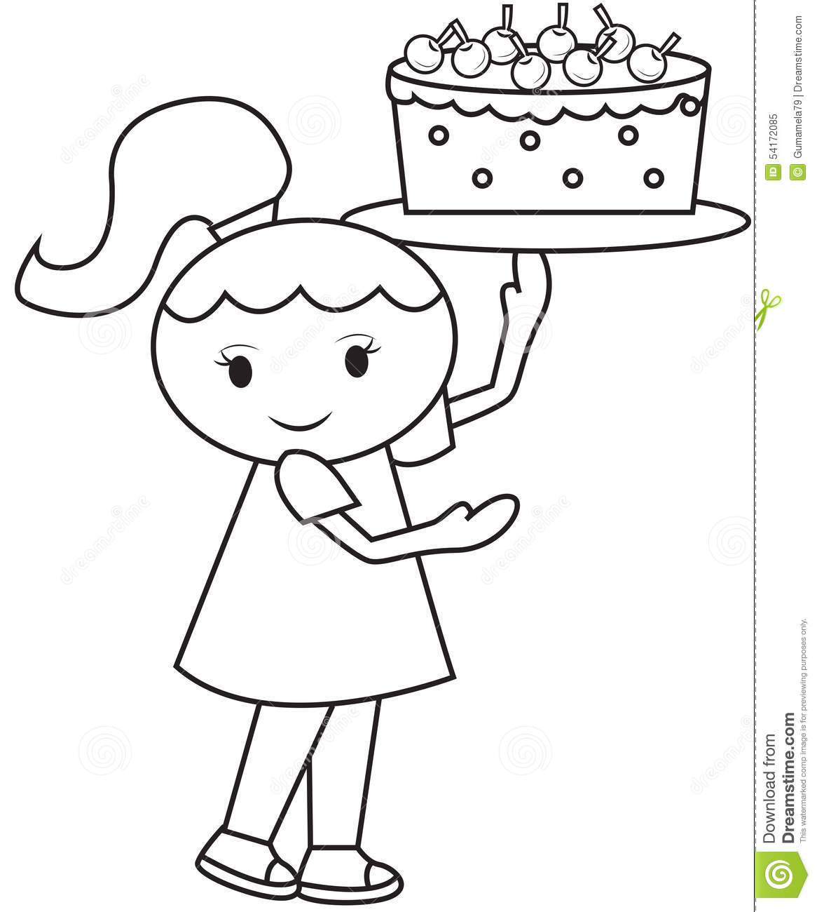 cake coloring pages for girls - photo #22