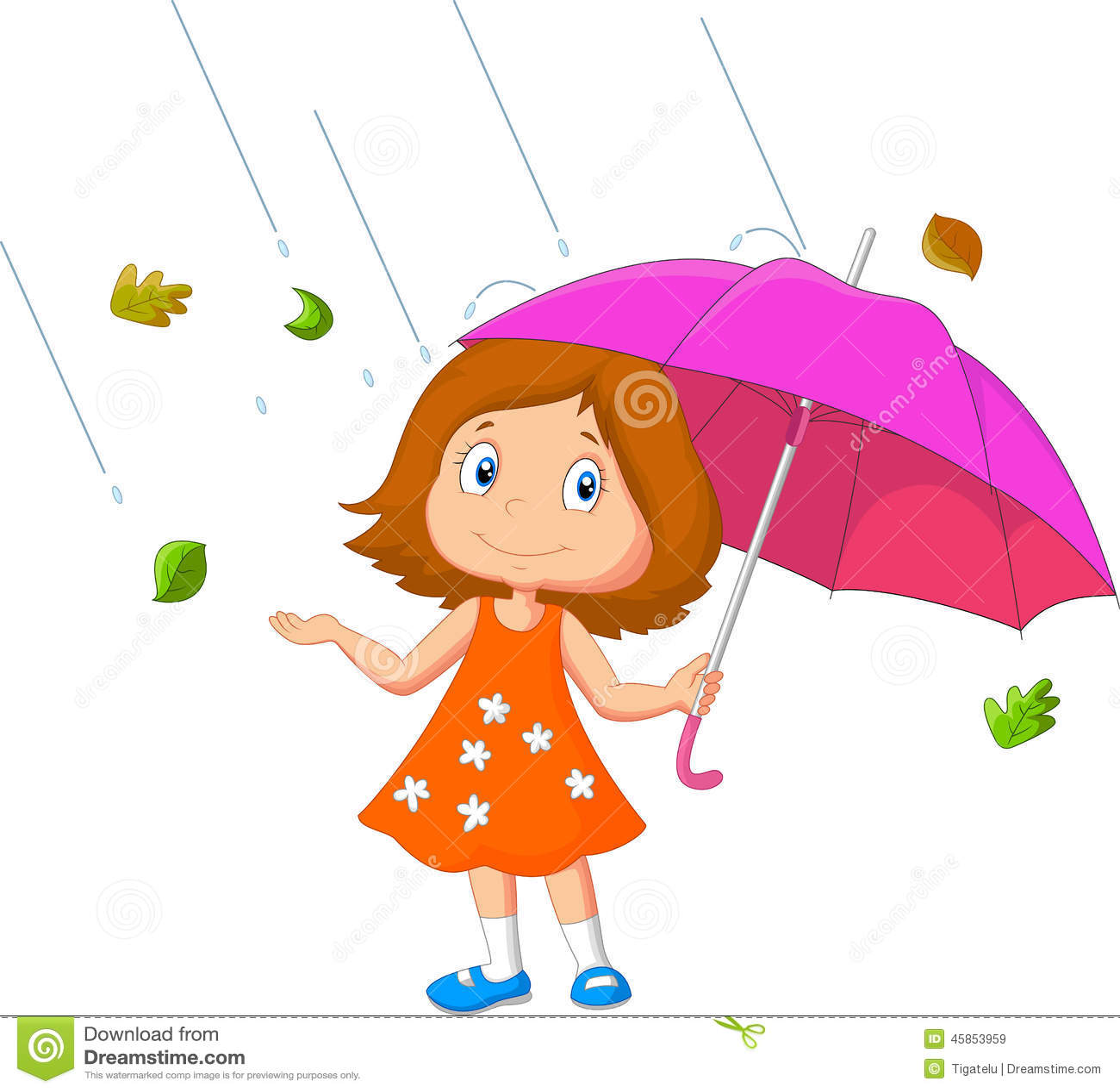 Girl Cartoon With Umbrella Stock Vector - Image: 45853959 Superhero Flying Vector