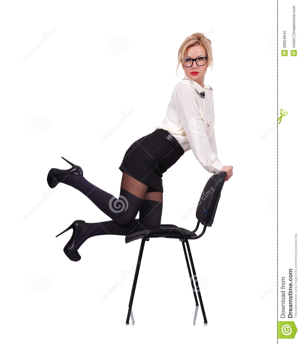 Girl Chair Stock graphy Image