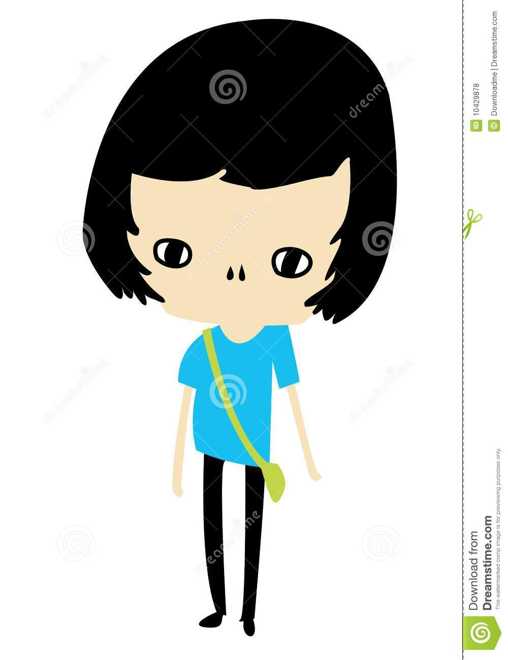 Cartoon Characters With Big Heads : Girl character royalty free stock photos image
