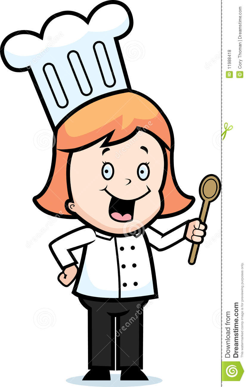 Girl Chef Royalty Free Stock Photos - Image: 11988418