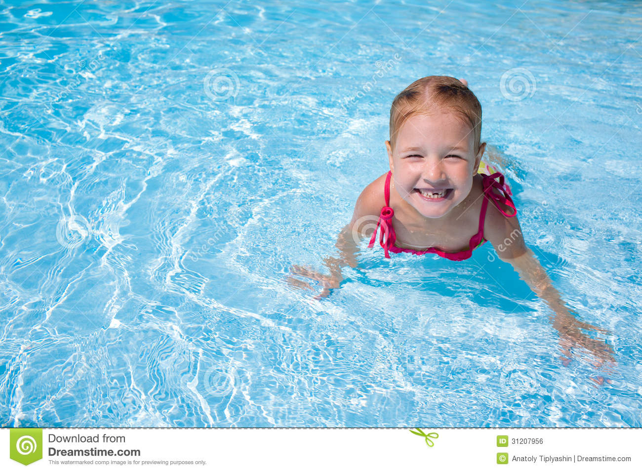 Girl child in water