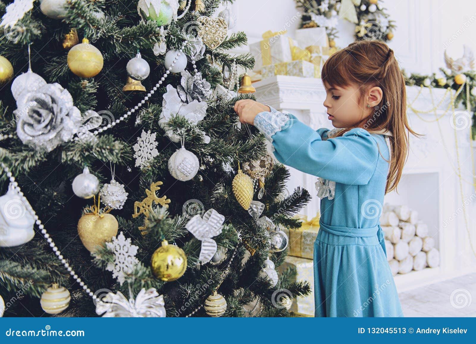 Girl at christmas three