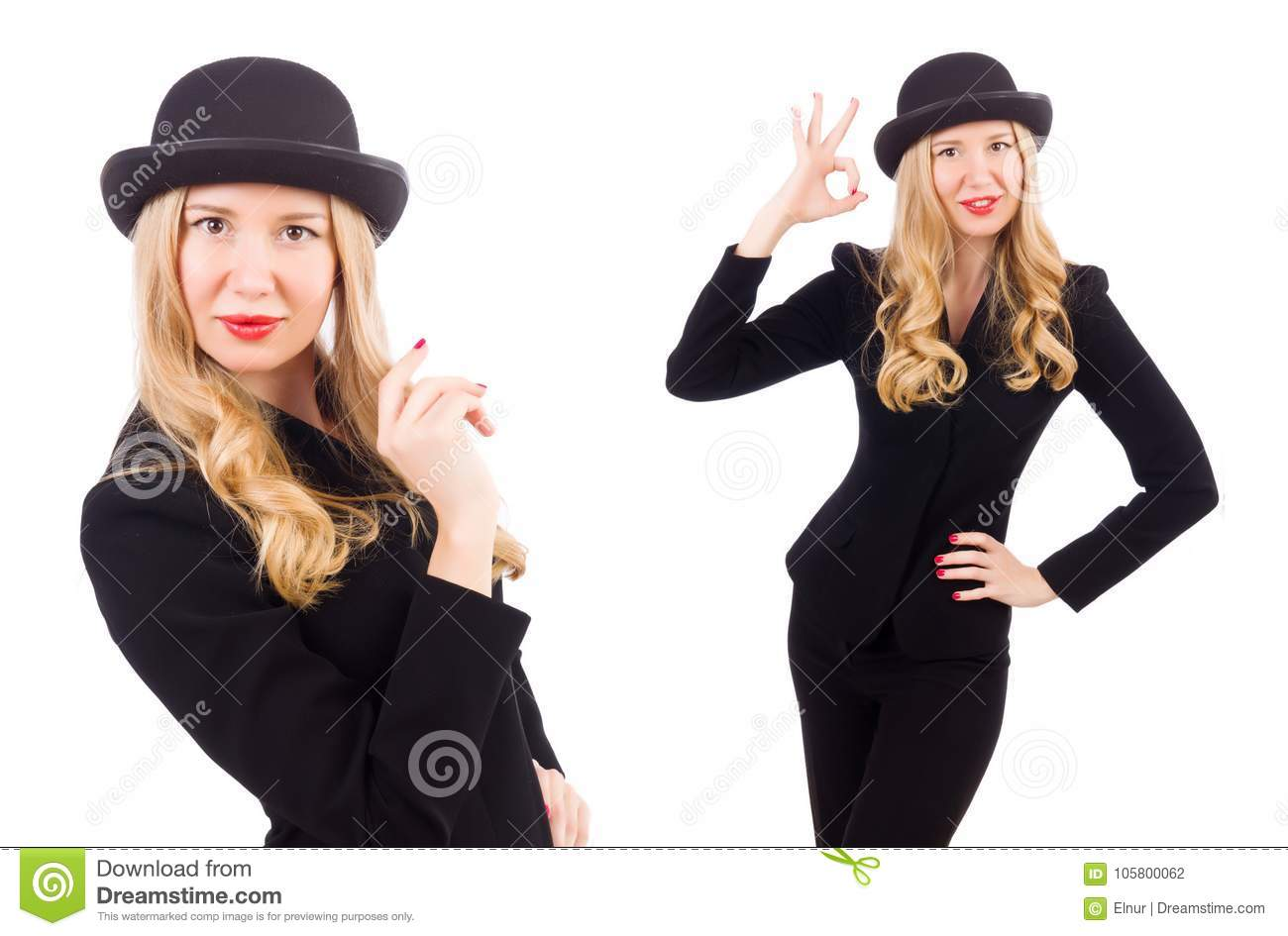 72905852faf30 The Girl In Classic Male Suit Isolated On White Stock Photo - Image ...