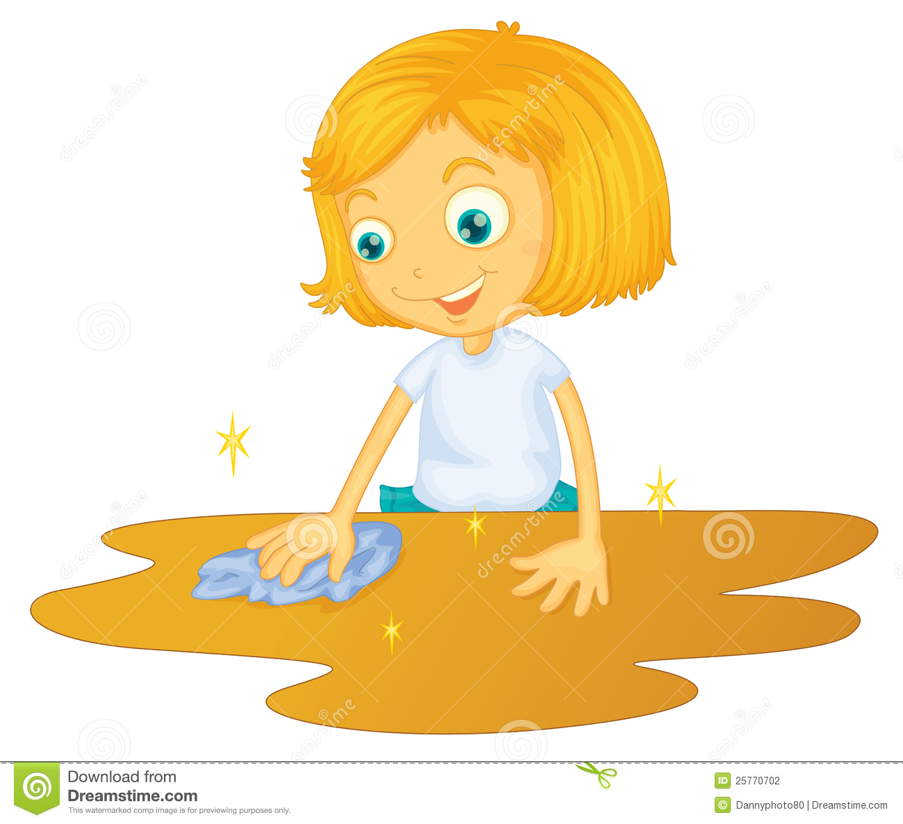 A Girl Cleaning Floor Stock Photography Image 25770702