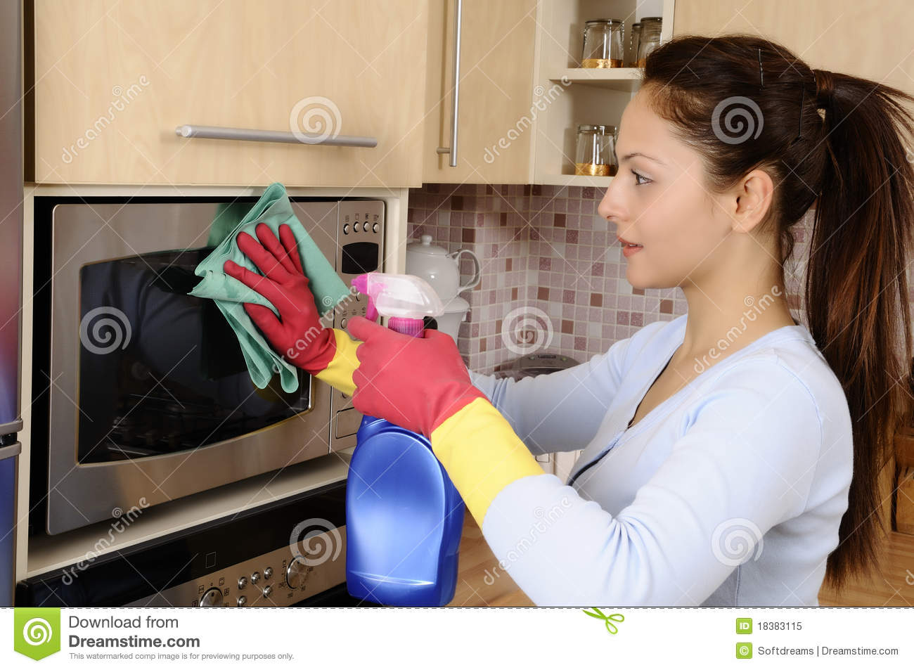 Kitchen Sink Cleaner >> Girl Cleaning The House Royalty Free Stock Photo - Image: 18383115