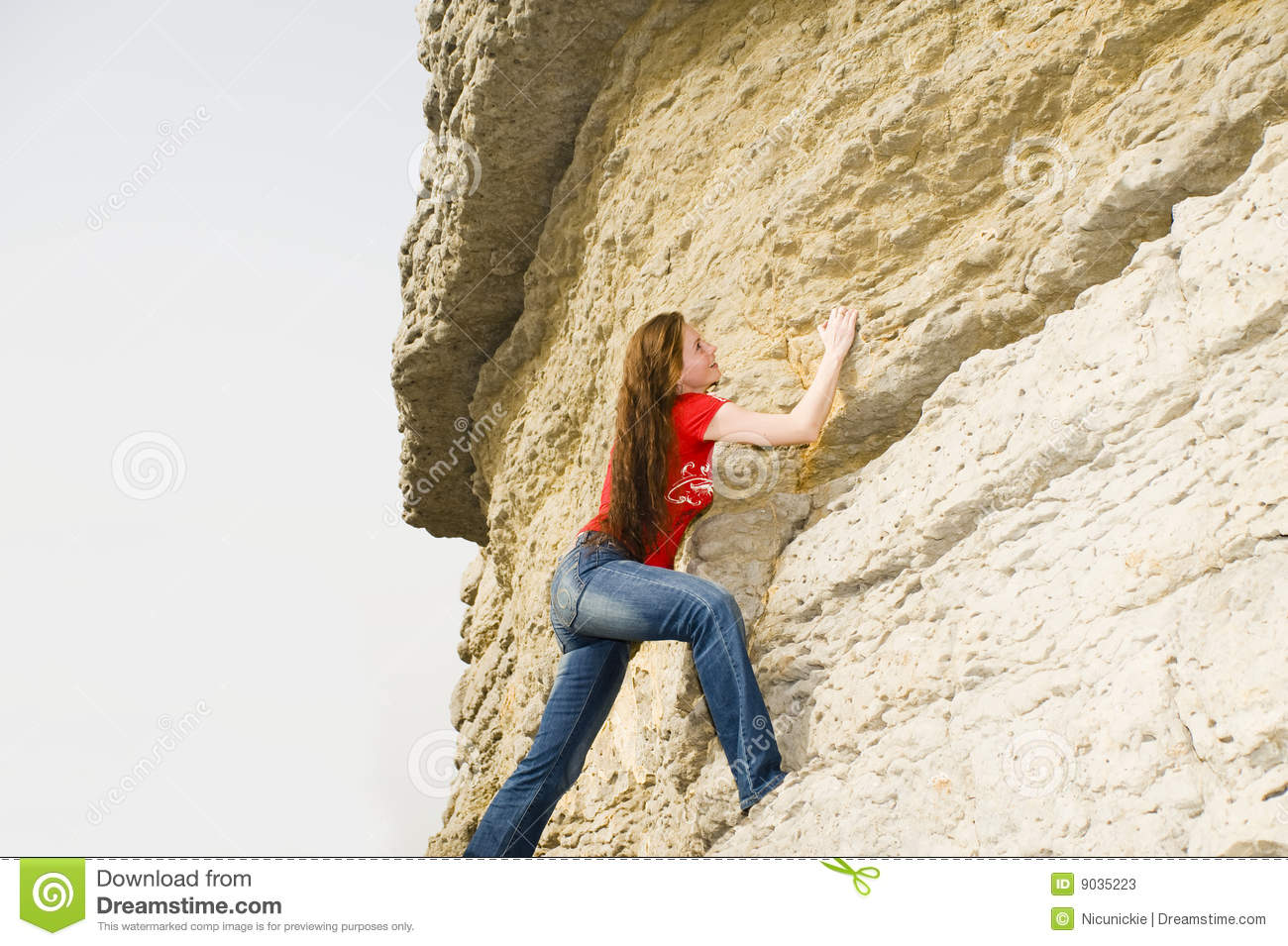 Girl Climbing Stock Photos - Image: 9035223