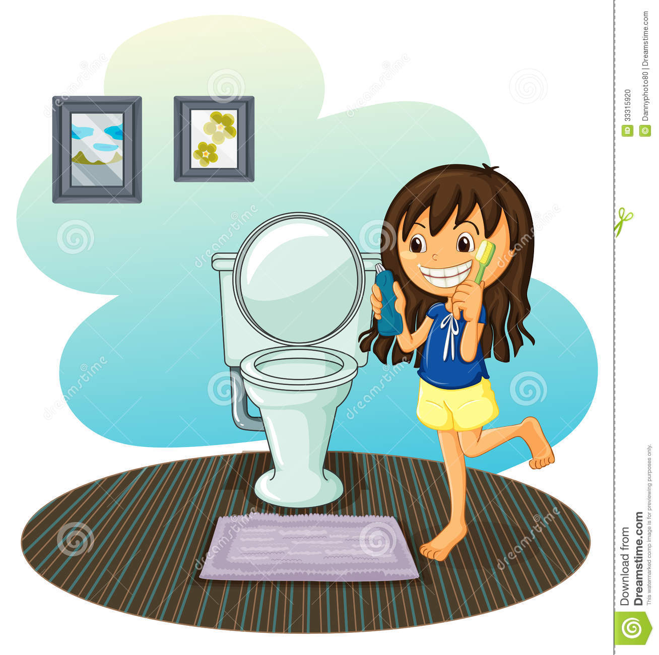 Free Restroom Cliparts Download Free Clip Art Free Clip: A Girl In The Comfort Room Stock Vector. Illustration Of