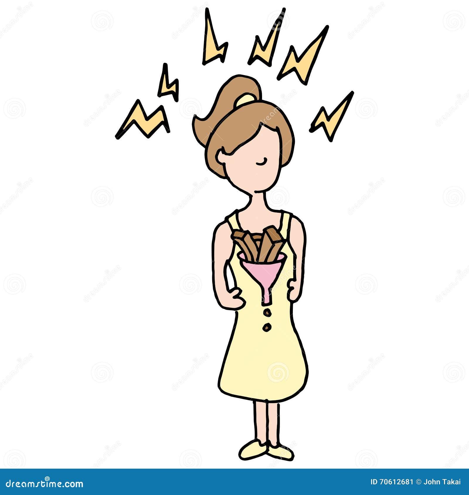 Girl With Constipation Cartoon Vector Cartoondealer Com 70612681